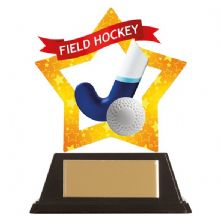 Field Hockey Mini-Star Acrylic Award